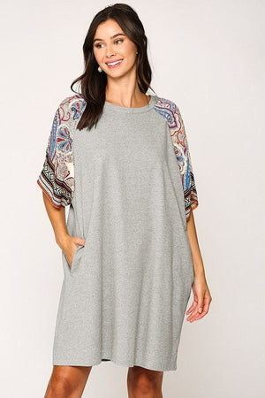 Solid Side Pocket Shift Dress-Mercantile Americana-Mercantile Americana
