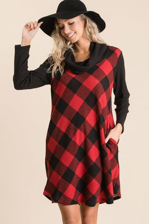 Buffalo Plaid Tartan Swing Dress-Mercantile Americana-Mercantile Americana