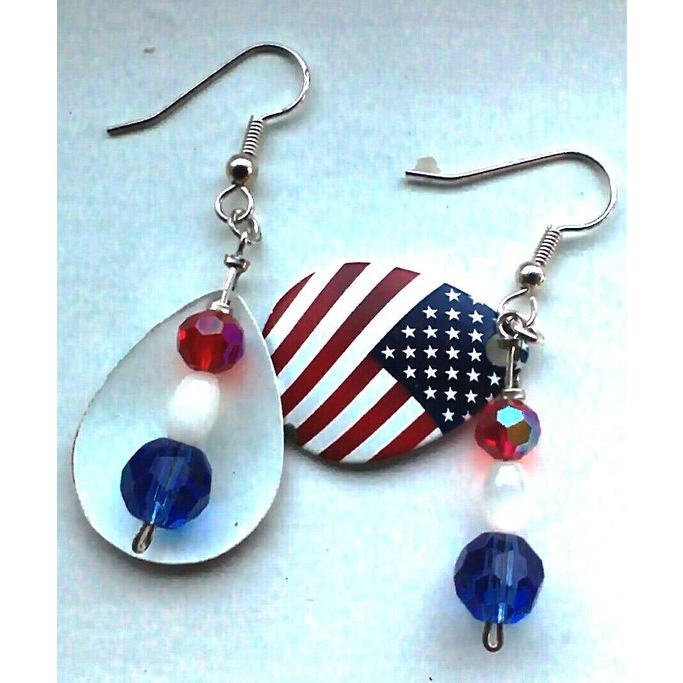 American Flag Colorado Blade Earrings