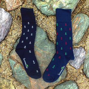 Anchor Socks - Men's Mid Calf - Port & Starboard-SummerTies-Mercantile Americana