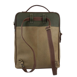 Augusta Leather Backpack-Tan/Olive Green-ClaudiaG Collection-Mercantile Americana