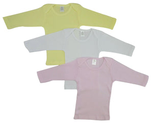 Bambini Girls Pastel Variety Long Sleeve Lap T-shirts-Bambini Infant Wear-Mercantile Americana