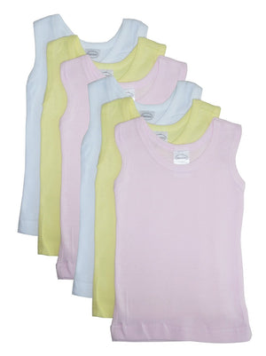 Bambini Girls's Six Pack Pastel Tank Top-Bambini Infant Wear-Mercantile Americana