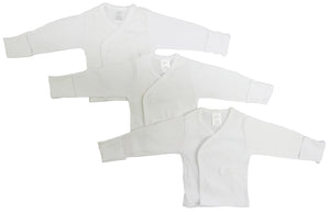 Bambini Long Sleeve Side Snap With Mittens - 3 Pack-Bambini Infant Wear-Mercantile Americana