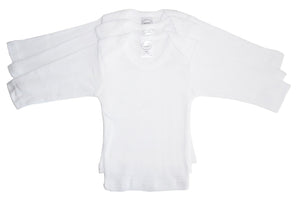 Bambini Long Sleeve White Lap T-shirt-Bambini Infant Wear-Mercantile Americana