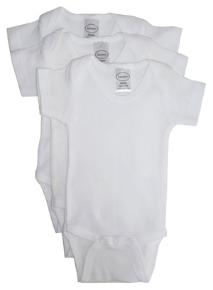 Bambini White Short Sleeve One Piece 3 Pack-Bambini Infant Wear-Mercantile Americana