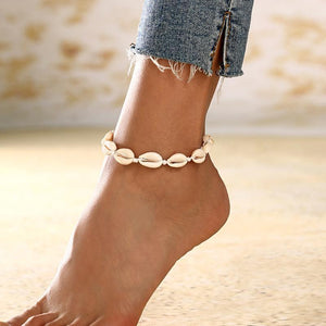 Bohemian Sea Shell Anklet Ankle Bracelet-Fashion Hut Jewelry-Mercantile Americana