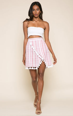 Candy Stripes Short Skirt-RAGA-Mercantile Americana