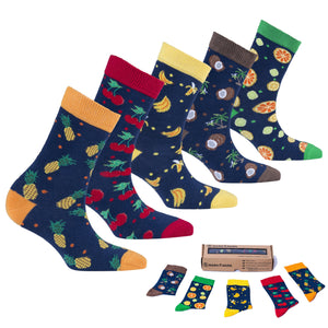 Cheerful Fruits Socks-Socks n Socks-Mercantile Americana