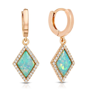Cleo Gold Blue Opal Earrings-Moderne Monocle-Mercantile Americana