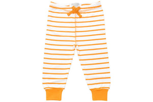cozy pants in orange marseille stripe-Sweet Peanut-Mercantile Americana