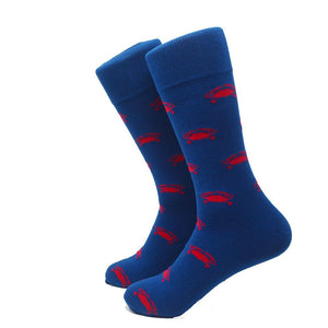 Crab Socks - Men's Mid Calf-SummerTies-Mercantile Americana