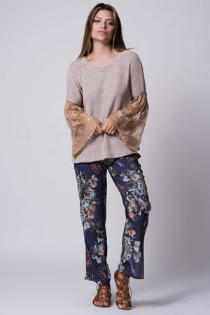 Dublin Mixed Media Sweater-Wanderlux-Mercantile Americana