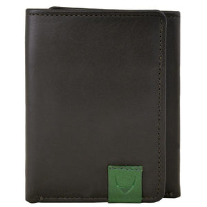 Dylan Compact Trifold Leather Wallet with ID Window-Hidesign-Mercantile Americana