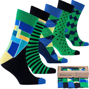 Emerald Mix Set Socks-Socks n Socks-Mercantile Americana