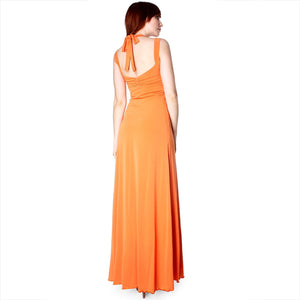 Evanese Women's Elegant Cross Tie Halter Long Formal Party Dress-Evanese Inc-Mercantile Americana
