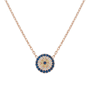 Evil Eye Necklace Rosegold-LATELITA LONDON-Mercantile Americana