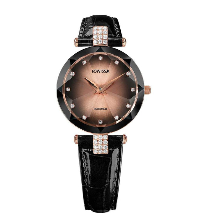 Facet Strass Swiss Ladies Watch J5.651.M