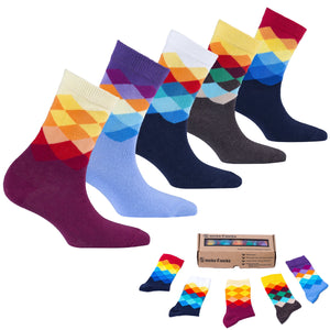 Faded Diamonds Socks-Socks n Socks-Mercantile Americana