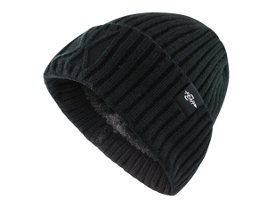 Fear0 Extreme Warm Black Cuff Winter Sport Skullies Watch Cap Beanie Hat Men Women-Fear0 Footwear/Apparel-Mercantile Americana