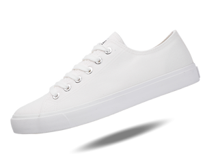 Fear0 Unisex True to the Size All White Canvas Sneakers Casual Shoes-Fear0 Footwear/Apparel-Mercantile Americana
