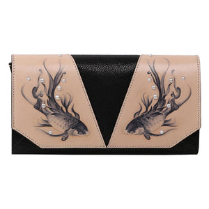 Fish Black Crossbody Clutch-Bellorita-Mercantile Americana