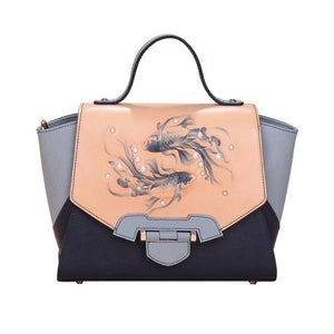 Fish Small Blue Satchel-Bellorita-Mercantile Americana