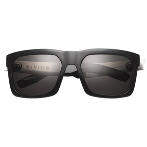 Giving: Polished Black - Brushed Aluminum / Grey Lens-IVI VISION-Mercantile Americana