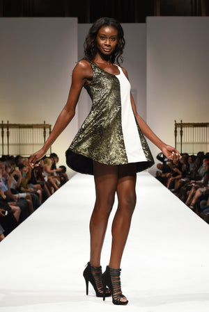 Gold Dress-Uwi Twins-Mercantile Americana