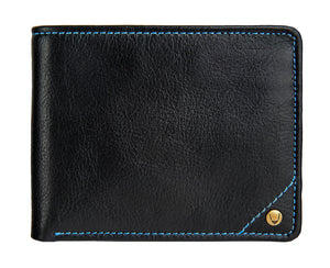 Hidesign Angle Stitch Leather Multi-Compartment Leather Wallet-Hidesign-Mercantile Americana