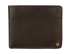 Hidesign Angle Stitch Leather Slim Bifold Wallet-Hidesign-Mercantile Americana