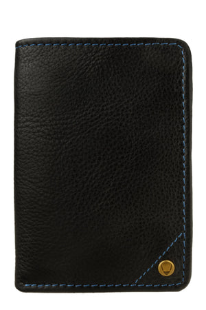 Hidesign Angle Stitch Leather Slim Trifold Wallet-Hidesign-Mercantile Americana
