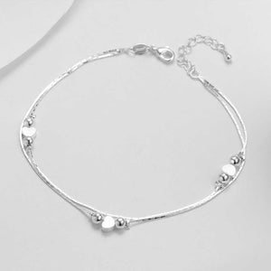 HOT Heart Anklet 925 Sterling Silver Women Anklet Ankle Bracelet-Fashion Hut Jewelry-Mercantile Americana