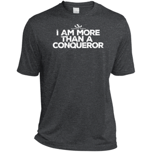 I AM MORE THAN CONQUEROR Heather Dri-Fit Moisture-Wicking T-Shirt-ProductPro-Mercantile Americana