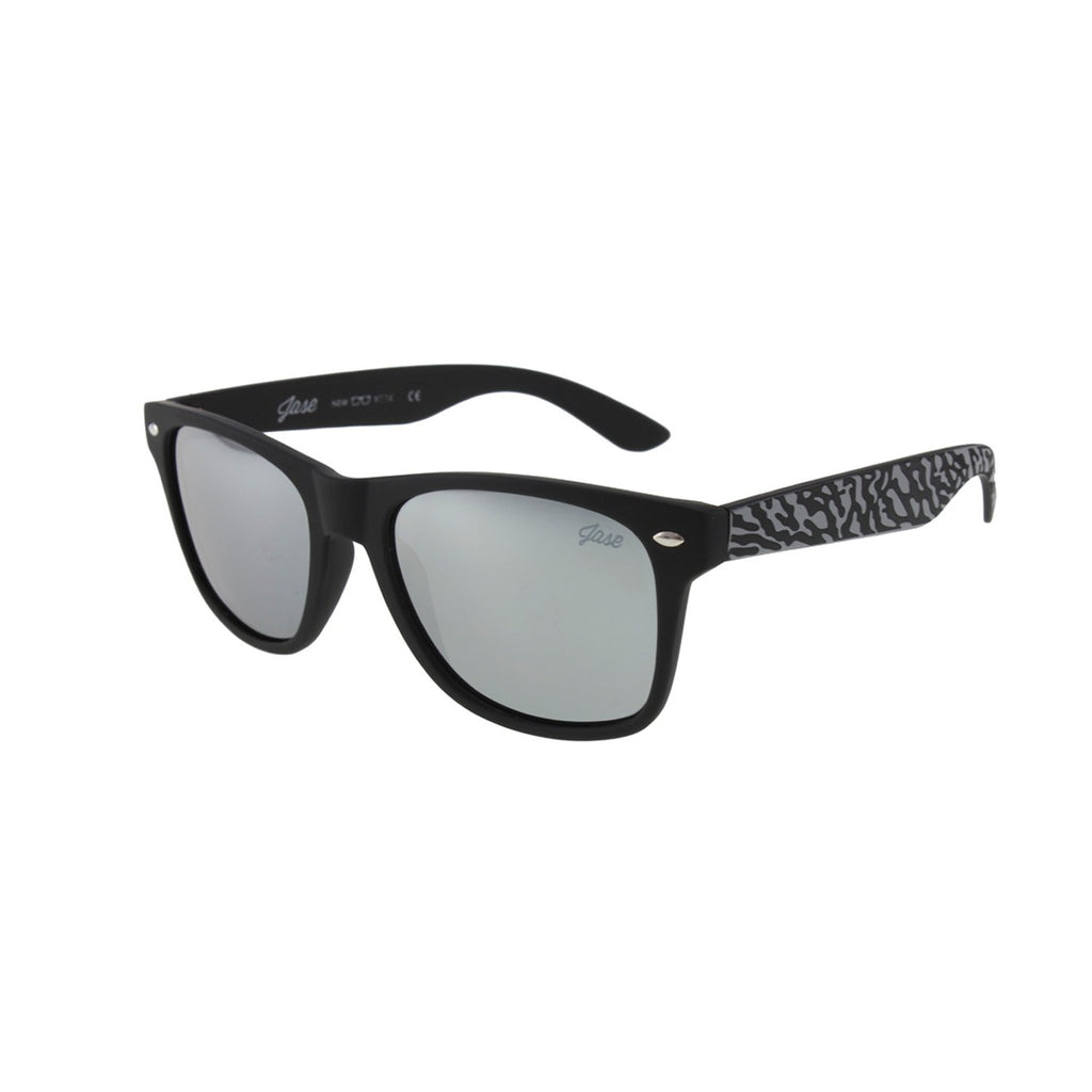 Jase New York Encore Sunglasses in Triple Black Mirror-Jase New York-Mercantile Americana