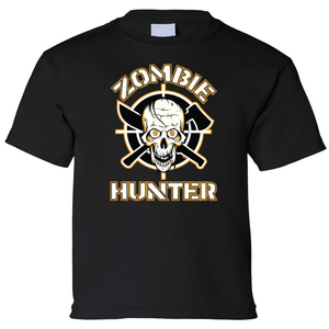 Kids Tee Zombie Hunter Short Sleeve T-Shirt-ProductPro-Mercantile Americana