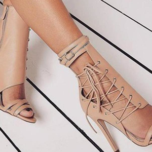 Lace Up High Heel Sandals-ProductPro-Mercantile Americana