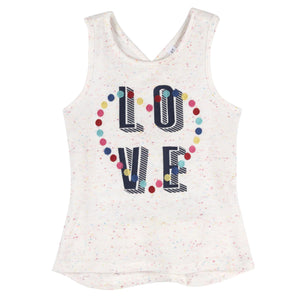 """Love"" Tank with CrissCross Back-Andy & Evan-Mercantile Americana"