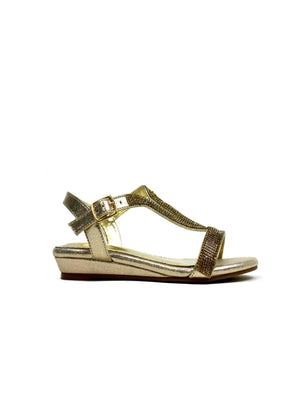 Low Wedge Glamour Gold-Beta Shoes Ltd.-Mercantile Americana