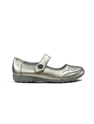 Lyla Leather Grey-Beta Shoes Ltd.-Mercantile Americana