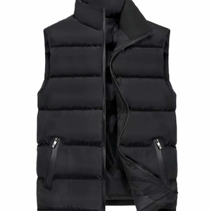 Men's Army Green Casual Puffer Vest-ProductPro-Mercantile Americana