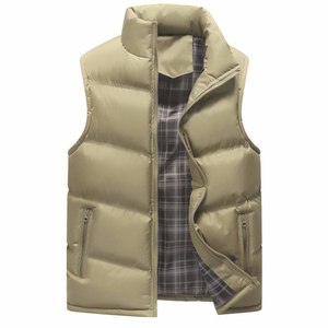 Men's Army Green Zip Up Puffer Winter Vest-ProductPro-Mercantile Americana