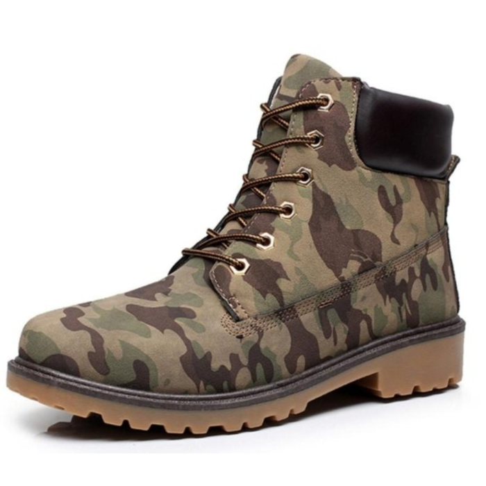 Men's Army Style Camouflage Outdoor Waterproof Boots