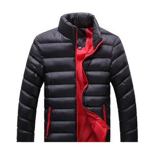 Men's Black Bomber Puffer Jacket-ProductPro-Mercantile Americana