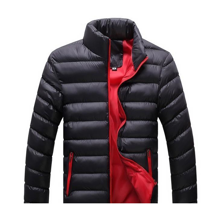 Men's Black Bomber Puffer Jacket