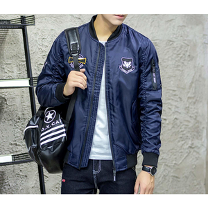 Men's Bomber Jacket with Badges-ProductPro-Mercantile Americana