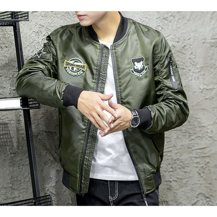 Men's Bomber Jacket with Badges
