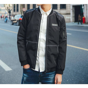 Men's Bomber Jacket with Stitching Designs-ProductPro-Mercantile Americana