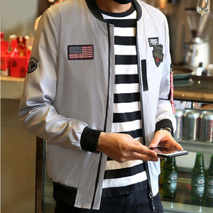 Men's Bomber Jacket with Zipper Tag-ProductPro-Mercantile Americana