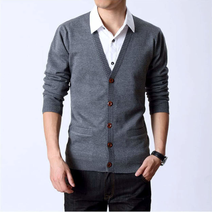 Men's Button Up Cardigan